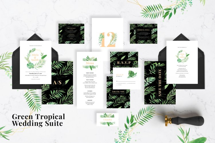 Green Tropical Wedding Suite example image 1