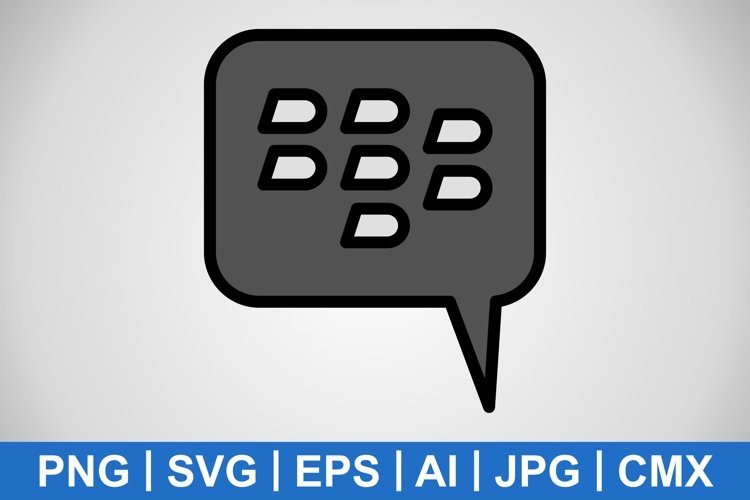 Vector blackberry Icon example image 1