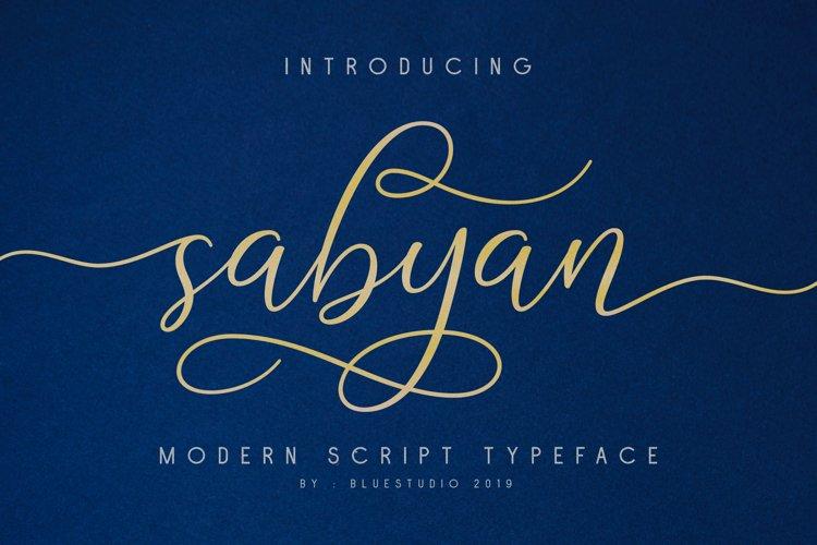 Sabyan // Modern Script Typeface example image 1