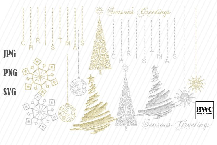 Christmas Gold and Silver Bling example image 1