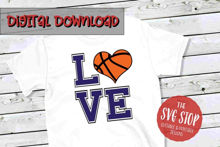 Love Heart Basketball-SVG, PNG, DXF