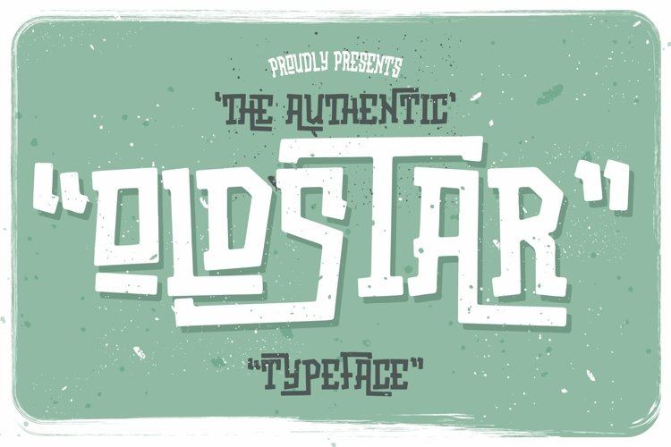 Web Font Oldstar Typeface example image 1