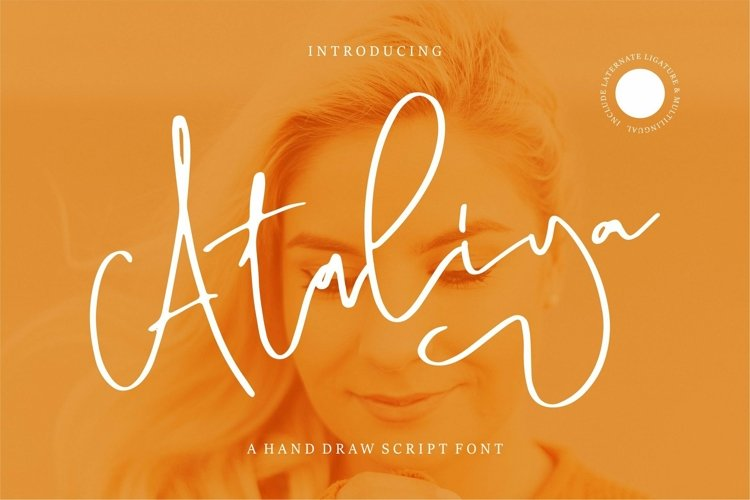 Web Font Ataliya - A Hand Draw Script Font example image 1