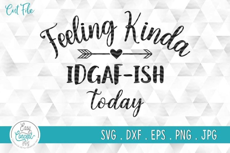 Feeling Kinda IDGAF-ish Today Shirt, Funny Quote Shirt example image 1