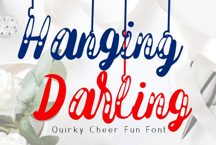 Hanging Darling Decorative Holiday Font example image 1