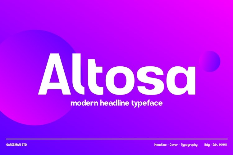 GR Altosa Typeface example image 1