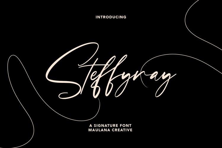 Steffyray Signature Font example image 1