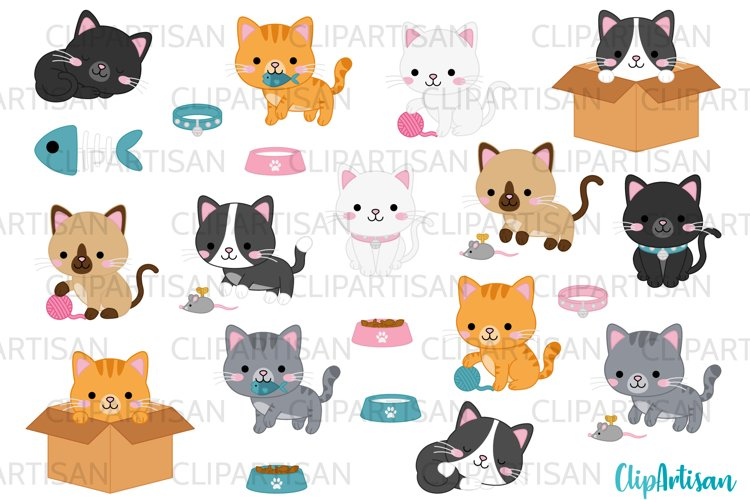 Kittens Clipart Cute Kitty Cats Kitties Pets Graphics example image 1