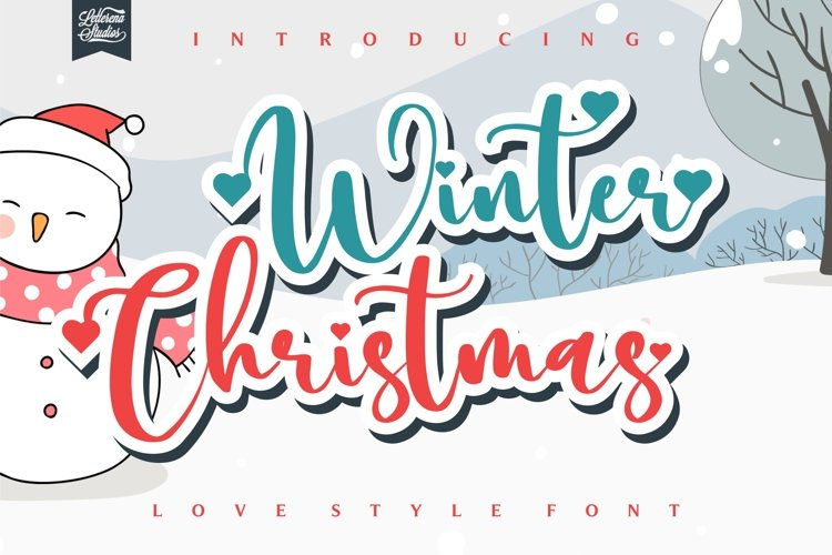 Winter Christmas - Love Style Font example image 1