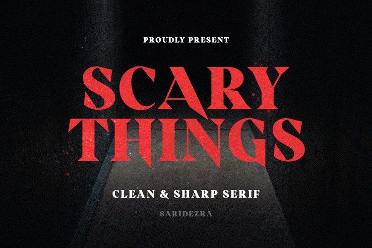 Scary Things - Sharp & Creepy Serif example image 1