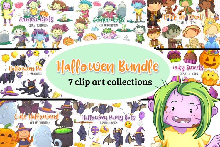 Halloween Graphics Bundle! Zombies, Bats, Ghosts and more!