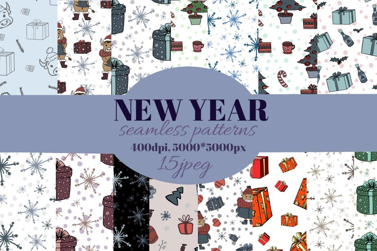 Christmas digital paper. Christmas cute scandi patterns. example