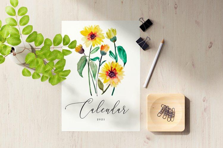 2021 Floral Watercolor Calendar