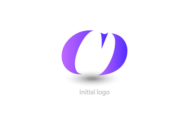 initial letter cd with purple example image 1