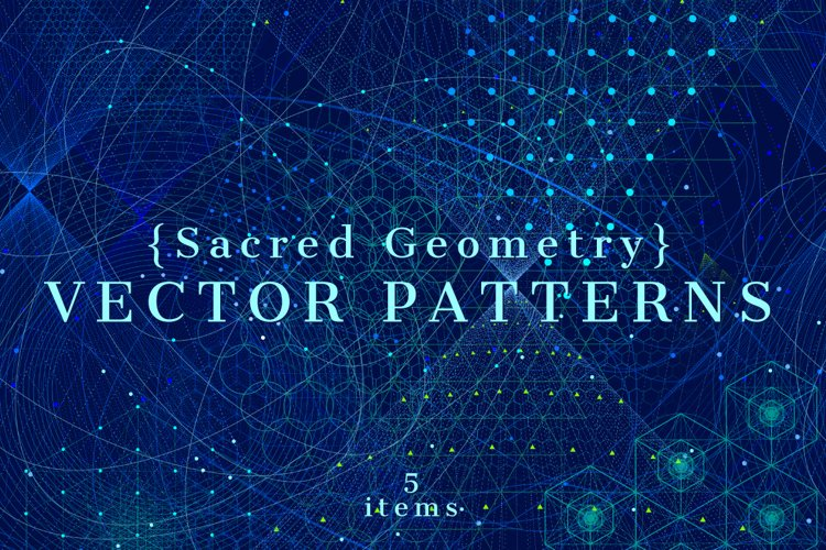 {Sacred Geometry} Vector PATTERNS example image 1