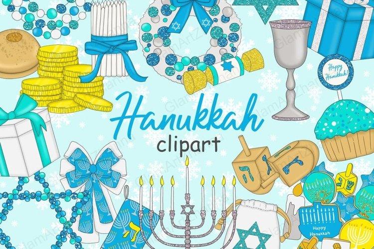 Hanukkah CLIPART Dreidel Menorah Chanukah Holiday - PNG