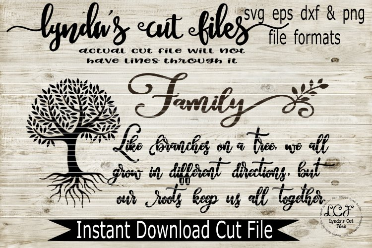 Family Tree - Long Version//SVG//EPS//DXF
