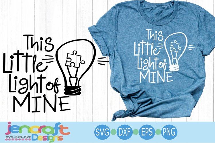 Autism svg Awareness SVG This Little Light Puzzle Light Bulb
