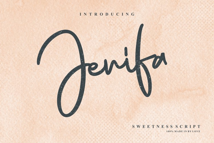 Jenifa Script Font example image 1