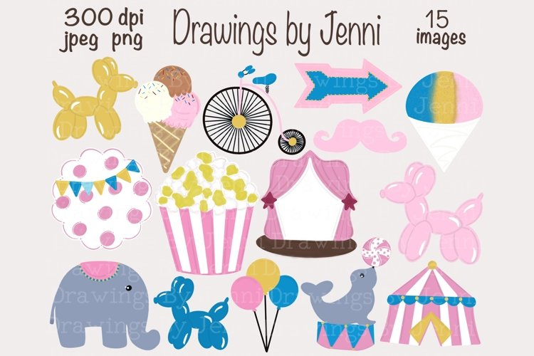 Pink Circus Clipart, Carnival Clipart