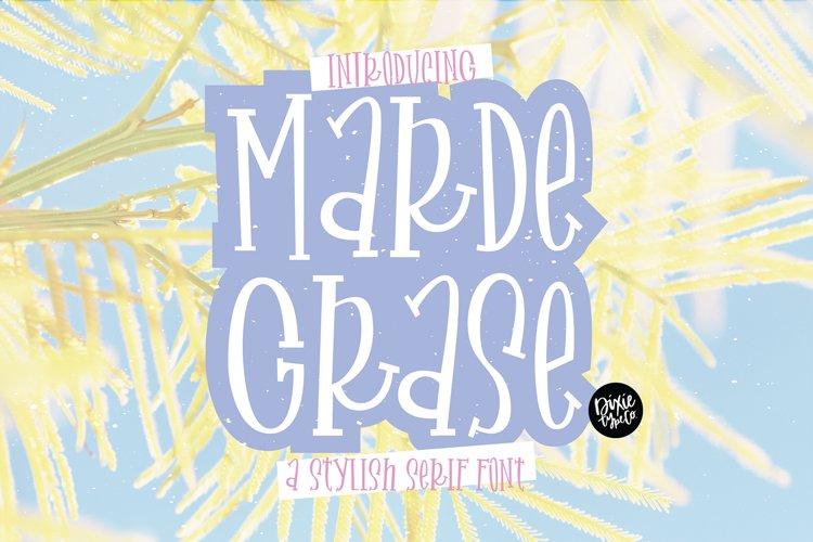 MARDE GRASE a Stylish Serif Font example image 1