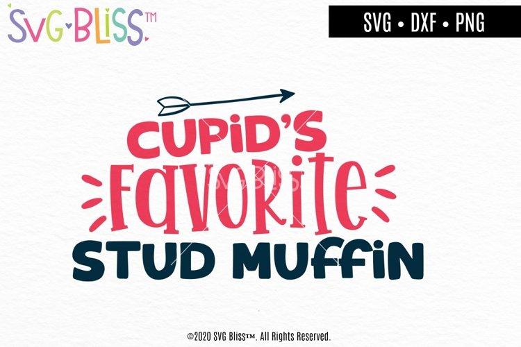 Cupids Favorite Studmuffin Valentines Day SVG Cut File