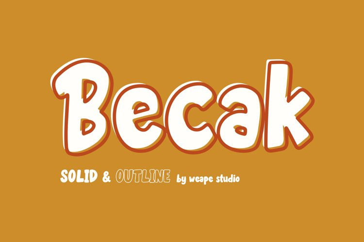 Becak - Solid & Outline Font example image 1