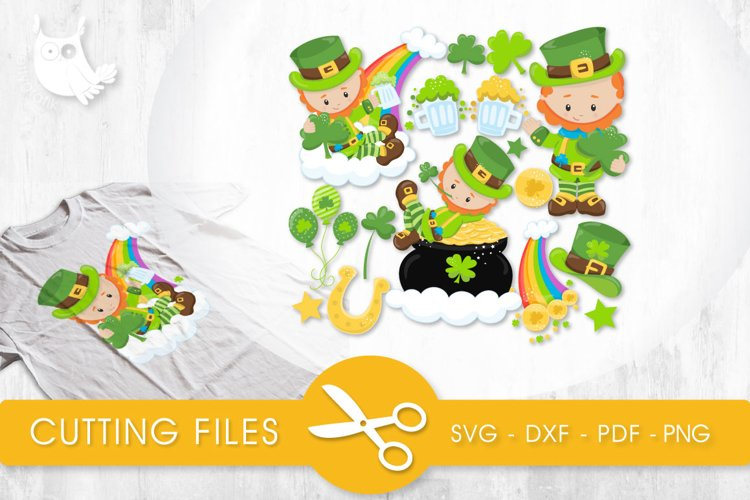 Lucky Leprechauns cutting files svg, dxf, pdf, eps included - cut files for cricut and silhouette - Cutting Files SVG example image 1