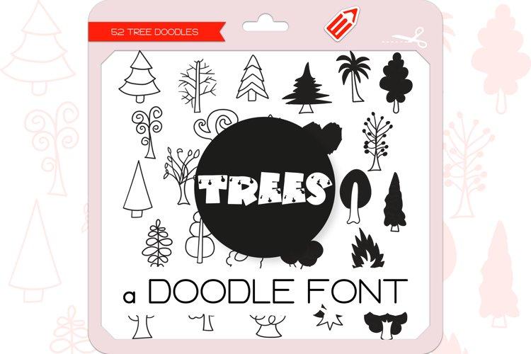 Tree Doodles - Dingbats Font example image 1