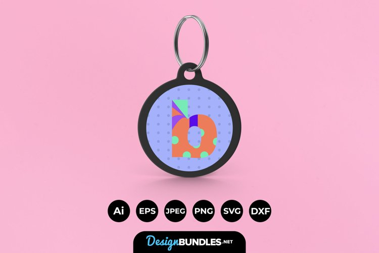 Letter B Keychain example image 1
