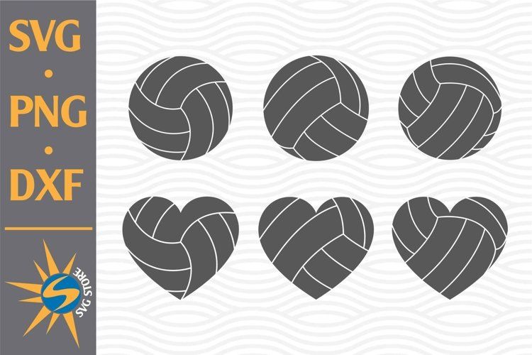 Volleyball Volleyball Heart Svg Png Dxf Digital Files 752401 Cut Files Design Bundles
