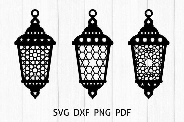 Arabic Lantern Cut Files. Ramadan Decoration SVG, DXF, PNG