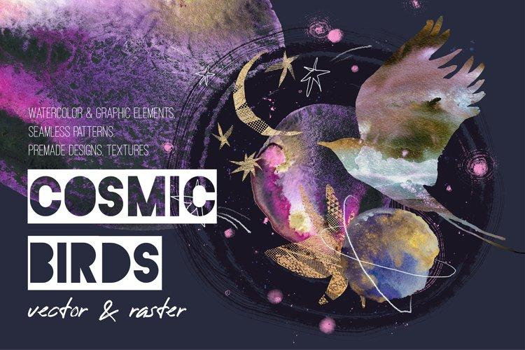 Cosmic birds. Art kit