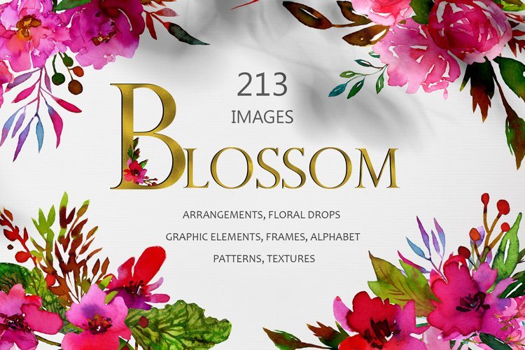 BLOSSOM Watercolor Collection example image 1