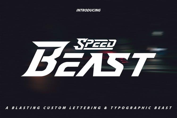 SpeedBeast | Display Font example image 1
