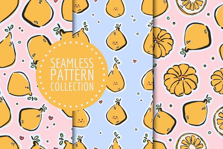 Lemons seamless patterns