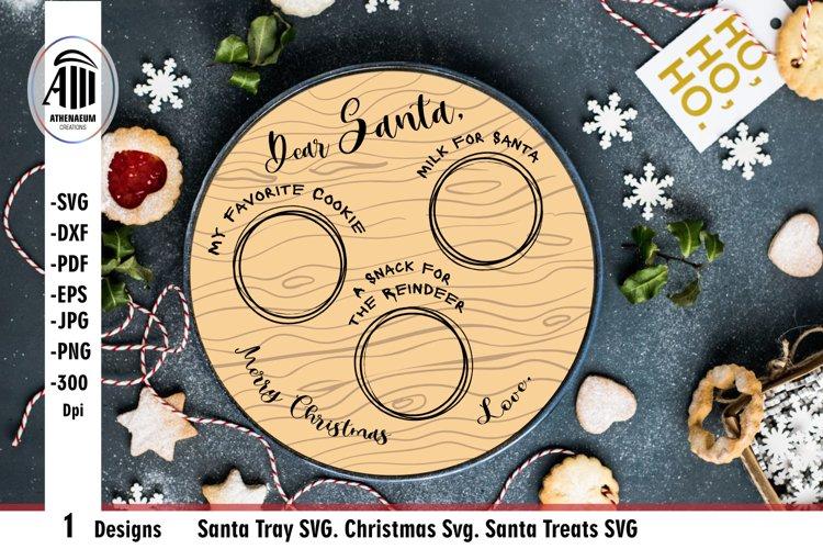 Santa tray SVG. Santa plate SVG cut file. example image 1