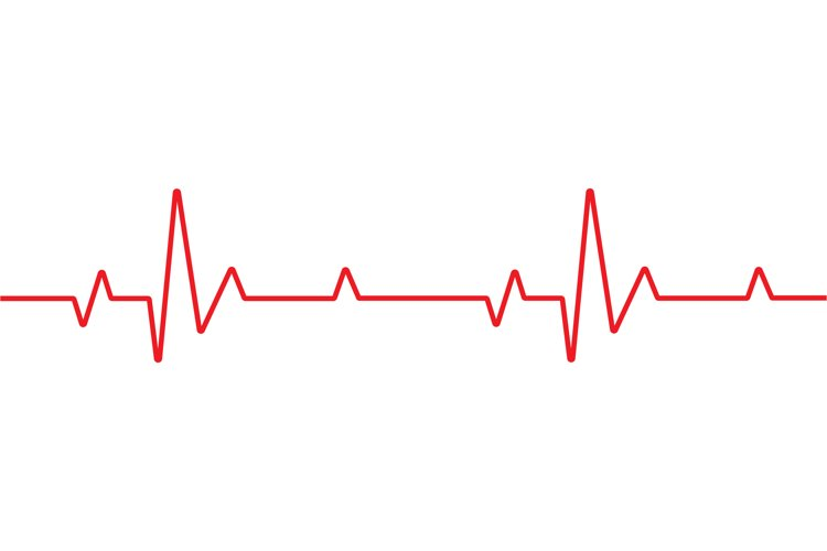 Heartbeat line medical background example image 1