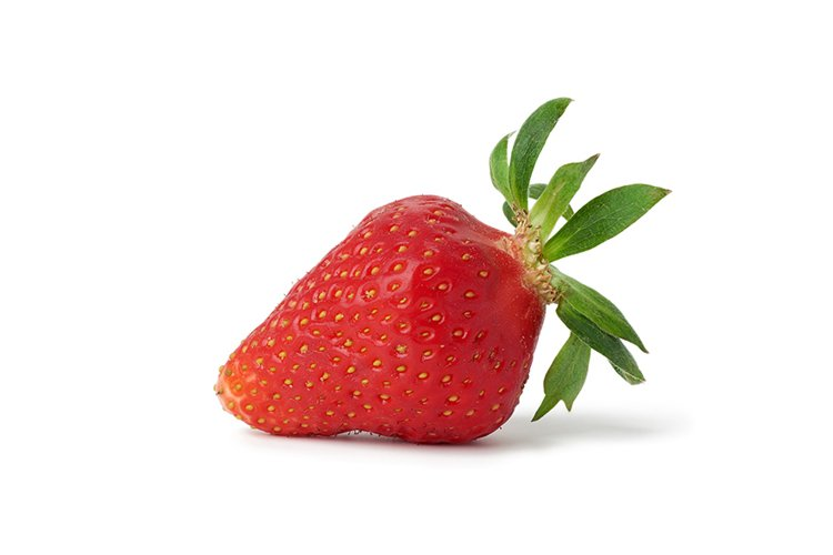 ripe red strawberries with green leaves example image 1
