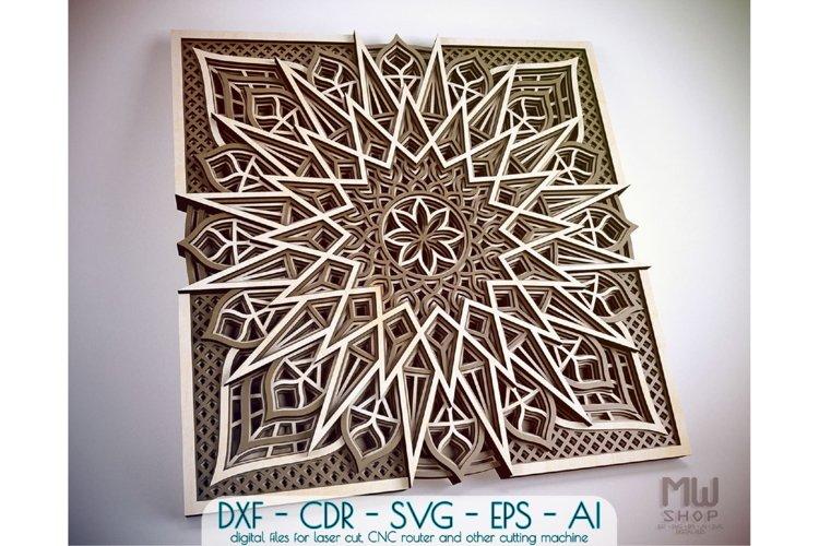 M97 - Laser Cut Mandala DXF, Layered Mandala SVG for Cricut