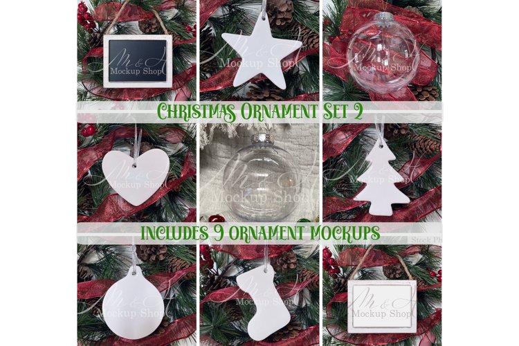 Christmas Ornament Mockup Set 2 example image 1
