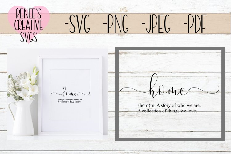 Definition of Home | Quote | SVG Cutting File example image 1
