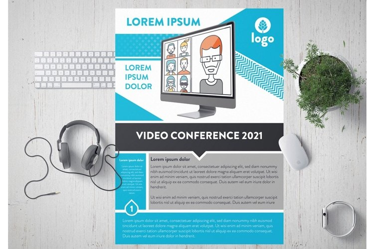 Video Conference Flyer Laout example image 1