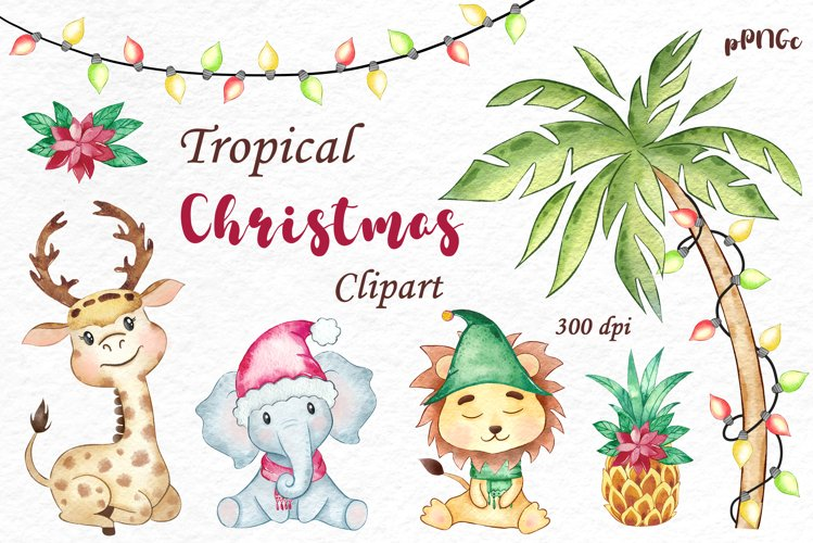Tropical Christmas Clipart
