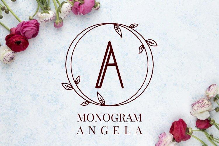 Monogram Angela example image 1