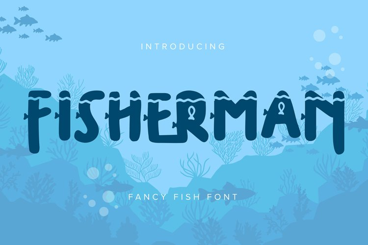 Fisherman | Fancy Fish Font example image 1