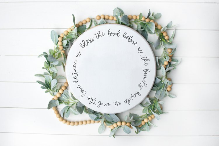 Prayer - Family - Home - Bless The Food Before Us SVG