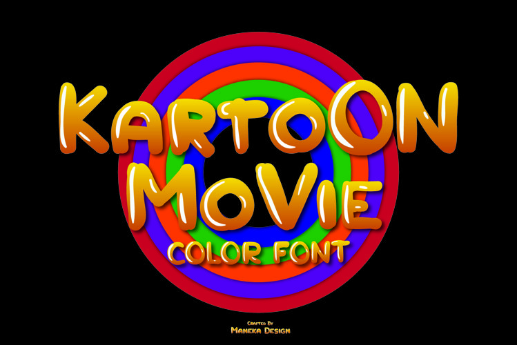 Kartoon Movie | Color Font example image 1