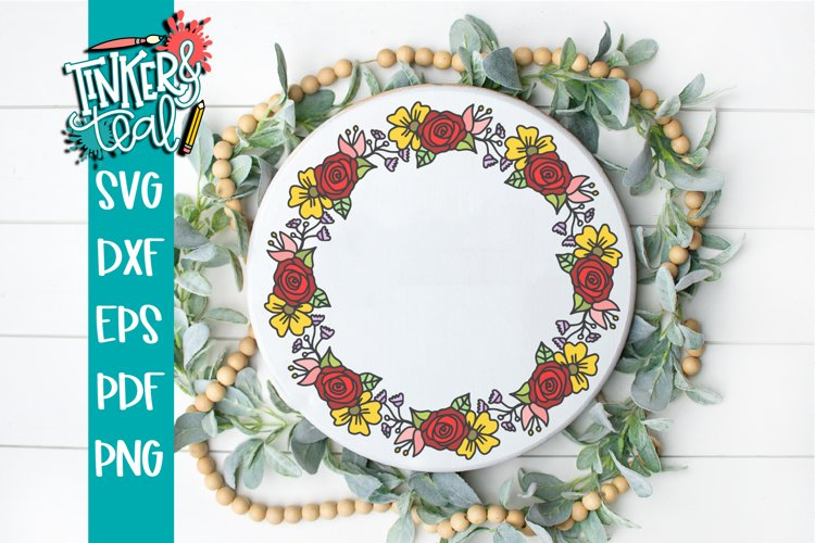 Floral Wreath Svg example image 1