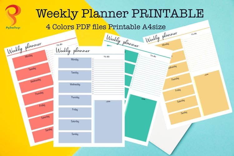 Weekly Planner Printable To Do List example image 1